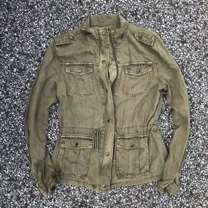 Max Jeans green utility jacket XS